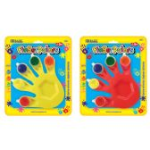 72 Units of BAZIC 5 Colors 5 ml. Finger Paint w/ Hand Shaped Mixing Tray