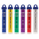 72 Units of BAZIC 22g / 0.77 Oz. Primary Color Glitter Shaker w/ PDQ - Craft Glue/Glitter