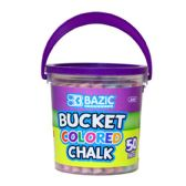 12 Units of BAZIC Assorted Color Chalk (50/Bucket) - Chalk,Chalkboards,Crayons