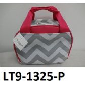 48 Units of Lunch Tote. Microfiber Construction Zip Around Closure Insulated Inside Front And Back Velcro Pockets - Cooler & Lunch Bags