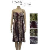 48 Units of Ladies Fashion Summer Sun Dresses Assorted Styles Animal Print - Womens Sundresses & Fashion
