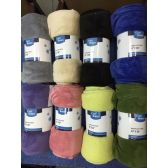 24 Units of 50x60 Assorted Solid Color Fleece Blankets - Fleece & Sherpa Blankets