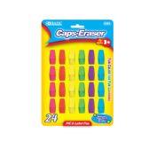 72 Units of BAZIC Neon Eraser Top (24/Pack) - Erasers