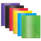 48 Units of BAZIC Swirl Embossed Multi Color 2-Pockets Poly Portfolio - Folders and Report Covers