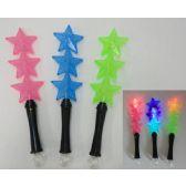 "120 Units of 14"" Light Up Wand [3 Stars] - Light Up Toys"