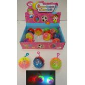 """72 Units of 2.5"""" Light Up Yoyo Spike Ball with Squeaker - Light Up Toys"""
