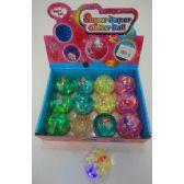"48 Units of 2.5"" Medium Light Up Bouncing Water Ball - Light Up Toys"