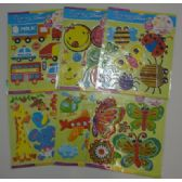 36 Units of 3D Children's Wall Art - Stickers