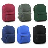 "24 Units of 17"" Sturdy 600D Backpack In 6 Assorted Colors. - Backpacks 17"""