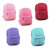 "24 Units of 17"" Sturdy 600D Backpack In 6 Assorted Colors - Backpacks 17"""