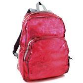 24 Units of Clear Backpack In Pink - Backpacks 17""