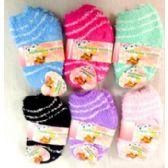 96 Units of Girl Fuzzy Socks - Girls Crew Socks