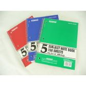 36 Units of 5 Subject Notebook