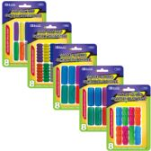 144 Units of BAZIC Assorted Color & Shape Pencil / Pen Grip (8/Pack) - Pencil Grippers / Toppers