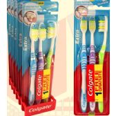 36 Units of Colgate Extra Clean 3 Pack Toothbrush - Toothbrushes and Toothpaste