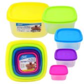 24 Units of Quality Home 5 Pc Container Color Lid Set