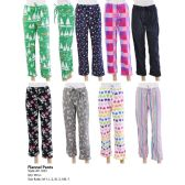 96 Units of Ladies Pajama Pants Assorted Styles