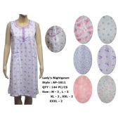 72 Units of Ladies Sleeveless Summer NIghtgown Assorted Styles - Ladies Lingerie & Sleep Wear