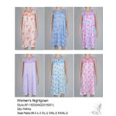 144 Units of Ladies Sleeveless Summer NIghtgown Assorted Styles - Ladies Lingerie & Sleep Wear