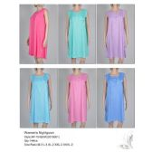 72 Units of Ladies Sleeveless Summer NIghtgown Assorted Styles - Night Gown & Dorm Shirts