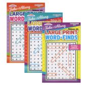 72 Units of KAPPA Take Along Large Print Word Finds Puzzle Book - Digest Size - Dictionary & Educational Books