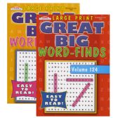 48 Units of KAPPA Large Print Great Big Word Finds Puzzle Book - Dictionary & Educational Books