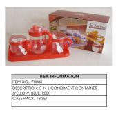 18 Units of CONDIMENT CONTAINER 3 IN 1 - Storage Holders and Organizers