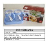 24 Units of CONDIMENT CONTAINER 2 IN 1 - Storage Holders and Organizers