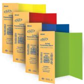 "24 Units of BAZIC 36"" X 48"" Assorted Color Tri-Fold Corrugated Presentation Board - Closeout Stationary"