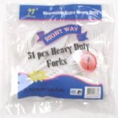 96 Units of 51pc Plastic Forks - Disposable Cutlery