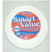 "40 Units of 9"" 60ct Wht Paper Plates - Disposable Plates & Bowls"