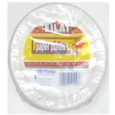 "60 Units of 6""100ct Wht Paper Plates - Disposable Plates & Bowls"