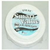 "60 Units of 6"" 80ct Wht Paper Plates - Paper"