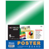 "96 Units of BAZIC 11"" X 14"" Metallic Poster Board (5/Pack) - Paper"