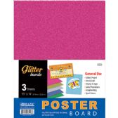 "96 Units of BAZIC 11"" X 14"" Glitter Poster Board (3/Pack) - Paper"