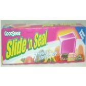 """72 Units of """"GOODSENSE"""" 7ct Gal Slider zip Bags - Food Storage Bags"""