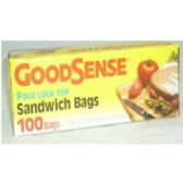 "96 Units of ""GOODSENSE"" 100ct Sandwich Bags - Food Storage Bags"