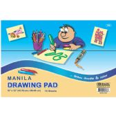 "96 Units of BAZIC 15 Ct. 18"" X 12"" Manila Drawing Pad - Paper"