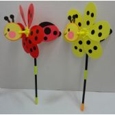"60 Units of 10.5"" Ladybug/Bumblebee 3D Wind Spinner - Garden Decor"