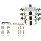 4 Units of 34 CM STEAMER STAINLESS STEEL - Stainless Steel Cookware Sets