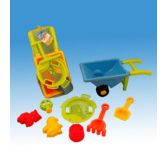 12 Units of Sand truck in net with accesories - Beach Toys