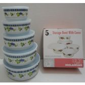 24 Units of 5pc Melamine Storage Bowl with Lid-Grapes - Storage Holders and Organizers