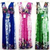 36 Units of Plus Size V Neck Knee Length Summer Dresses 3239 - Womens Sundresses & Fashion