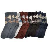 240 Units of Mens Classic Argyle Dress Socks - Mens Dress Sock