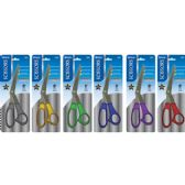 "144 Units of BAZIC 8"" Glitter Bent Handle Stainless Steel Scissors - Scissors"