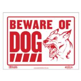 "72 Units of BAZIC 12"" X 16"" Beware of Dog Sign - Signs & Flags"