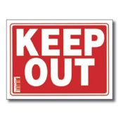 "72 Units of 12"" X 16"" Keep Out Sign - Signs & Flags"