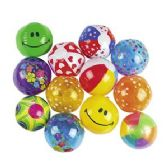 100 Units of Inflatable Mini Beach Ball Assortment - Beach Toys