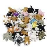 50 Units of Plush Mini Bean Bag Animal Assortment - Animals & Reptiles