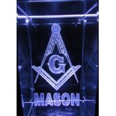 48 Units of 3D Laser Etched Crystal-Mason - Etched Crystal Figurines